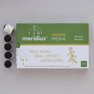 Rauchlose Moxa-Kegel mir besonders langer Brenndauer